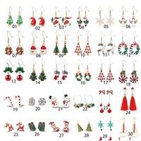 Christmas dangle Earrings chandelier Snowflake Elk Bell ChristmasTree Epoxy Copper Ear Hook Pendant earing