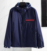2021 homens jaqueta pulôver zíper jaquetas com capuz primavera Outono estilo para homens mulheres windbreaker casaco de mangas compridas moda roupa com zíperes letras impressas