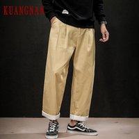Pantaloni da uomo Kuangnan Allentati Uomini da cargo da joggers Pantaloni Streetwear Sweatpants Harem 5xL 2021 Autunno