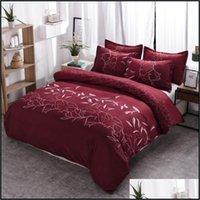 Supplies Textiles Home & Garden Bedding Set Single Floral Duvet Er Sets Pillowcases Comforter Ers Twin Fl Queen King Size Bury Floral1 Drop