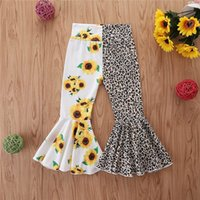 Girls Trousers Fashion Cotton Kids Dress Flower Leopard Pant...