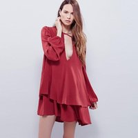 Повседневные платья la maxza сексуальное платье для женщин лето 2021 вечеринка дамы с длинным рукавом V-образным вырезом твердой фонарь 101027