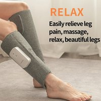 Rechargeable Leg Massager Air Compression Massager Heated For Foot And Calf Thigh Blood Circulation Relieve Calf Muscle Fatigue