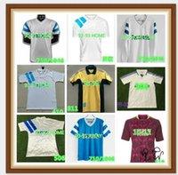 202190 91 93 98 99 올림키 레트로 축구 유니폼 마르세이유 기념 셔츠 Deschamps Papin Boli Desailly Voller 축구 피어