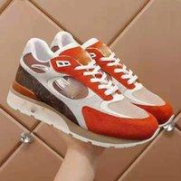 Erkek Ayakkabıları Lüks Tasarımcıları kadın Boş Zaman Spor Örgü Nefes Çok Yönlü Yay Baskı Deri Dantel Yukarı Kayma Anti Kayma Çift