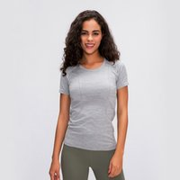 تنفس إمرأة اليوغا قمم قصيرة الأكمام النساء اليوغا قميص الرياضة قميص بسط تجريب القمصان المرأة اللياقة البدنية قمم سلس الأعلى