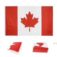 Canada Flags Polyester Square Garden Flag Red Canadian National Day Maple Leaf Pattern CA Banner 90*150CM NHB7760