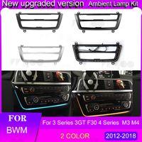 Pour 3 4 Série 3GT F30 M3 M4 LCI Radio Garniure à LED Dashboard Console Console Panneau AC Lumière Bleu Orange Atmosphère Interiorexternal Lights