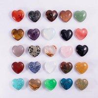 Doğal Kristal Taşlar Parti Favor 25mm Yok Delik Şeftali-Kalp Süs Kalpler Şekli Takı El Sanatları Dekorasyon T9I001253