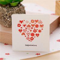 Greeting Cards 50PCS Cartoon Message Card Christmas Birthday Weding Invitations Year Postcard Mini Gift