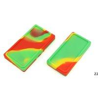 플랫 대형 왁스 메이트 용기 큰 실리콘 고무 저장 항아리 사각형 모양 왁스 항아리 DAB 농축 도구 Dabber 오일 홀더 HWE8345