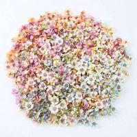 Decorative Flowers & Wreaths 50PCS SET 2CM Daisy Flower Heads Mini Silk Artificial For Wreath Scrapbooking Home Wedding Decoration