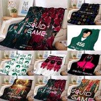 34 Color TV squid game flannel blankets 75x100 100x150 130x150 CM microplush velvet fleece cartoon Throw blanket Ultra Soft All Season sofa nap cover G004F2A