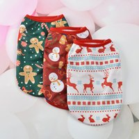 Dog Apparel Clothes Pet Supplies Cat Summer Face Vest Cartoon Print Puppy Cloth Outwears Clothing t shirt Jumpsuit Outfit Small Dogs Mix Batch XS-XXL 6Colors