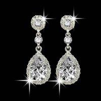 Orecchini pendenti in stile del rhinestone di gioielli di nozze per le donne 10.4 collana