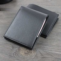Wallets Black Brown PU Leather Short Men's Male Business Credit ID Card Holders Small Horizontal Money Clips Coin Purses Bag