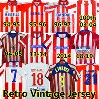 Retro 2004 2005 Atletico Madrid Soccer Jerseys # 9 F.Torres 1994 95 96 97 2013 14 15 Caminero Griezmann Gabi Home Vintage Classic Football Hemd