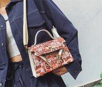 HBP Women Bags Graffiti Mini Shoulder Bag Hobo Handbags Square Black Oblique Cross Lady Tote Crossbody Messenger Purse