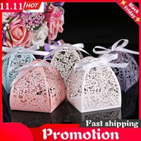 50Pcs Laser Cut Flower Wedding Candy Box Gift For Guest Favors And Gifts Christmas Birthday Party Decoration Wrap