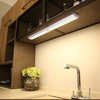 캐비닛 라이트 아래 무선 LED USB 충전식 옷장 야간 조명 옷장 부엌 긴 스트립 계단을위한 마젠타틱 벽 램프