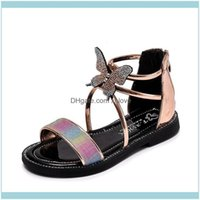 Baby, & Maternity Girls Summer Kids Bottom Comfortable Sandals With Rhinestone Princess Shoes Patent Leather Children Drop Delivery 2021 Uis