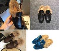 مصمم النعال princetown الفراء البغال الشقق سلسلة السيدات عارضة أحذية النساء رجل المتسكعون مولر شبشب الأحذية فروي الشرائح