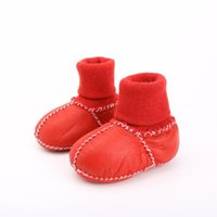 Boots 2022 Winter Baby Girls Wool Snow Toddlers Soft Sole Prewalkers Born Fur Shoes