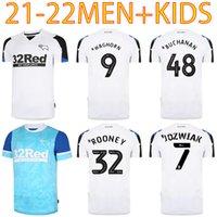 21 22 Jerseys de fútbol de Derby County 2021 Home White Wisdom Waghorn Martin Shirt Lawrence Holmes Rooney Football Uniforme