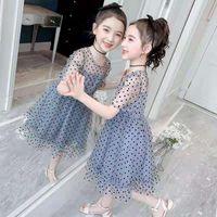 Girl's Dresses Girls Mesh Summer 2021 Baby Party Dress Kids Girl Birthday Polka Dot Vestidos Princess Clothes