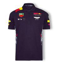 F1 Formula 1 Racing Suit Automobile Team Logo Fabbrica Uniforme Polo T-shirt a maniche corte Uomini e donne possono essere personalizzate 2021