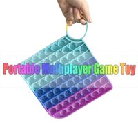 40*40CM Large giant fidget toy foldable chessboard push bubble board game kids children's early education fingertip puzzle rainbow silicone chess boards H924FPIE