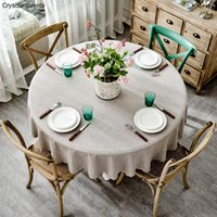 Table Cloth Cover Round Wedding Party El Cotton Linen Nordic Solid Tablecloths Home Decor Grey Coffee Blue