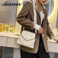Women's Pu Leather Small Task Popular Effects Color Chains Portable Shoulder Messenger Bag Ladies Handbag