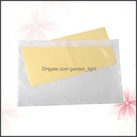 Gift Event Festive Party Supplies Home & Gardengift Wrap 100Pcs Self-Adhesive Packing List Envelopes Transparent Pouches For Invoice Label (