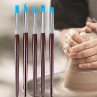 Craft Tools DIY Multifunction 5Pcs Cake Rubber Pen Brush Tool Set Art Supplies Silicone Sculpting