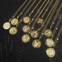 S925 Sterling Silver Gold 12 constellations pendant necklaces for men and women to wear personality trend fashion luxury jewelry Monaco Necklace