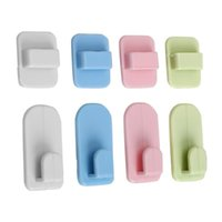 Hooks & Rails 4pcs Remote Control Holder Adhesive Tape Hanger Wall Storage Sticky Hook Set Organization For TV Air Conditioner Controller