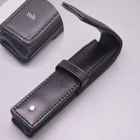 سعر الجملة m حالة ذات نوعية جيدة الأقلام الحقيبة هدية القلم حقيبة أسود جلد أكياس بو الشهيرة