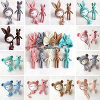Nouveau-né Chapeaux Photographie Prise de vue en photo Filles Boys Crochet Costumes Costumes Capsouilles avec oreille Toys + Chapeaux 2pcs Cadeaux mignons pour bébé 909 Y2