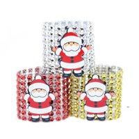 Plastikowy pierścień serwetka Boże Narodzenie Diament Salak Santa Claus Klamry Klamra Hotel Materiały Ślubne Stół FWE8686