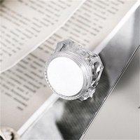 15g Diamante estilo olla acrílico cosmético cosmético jarra de ojos maquillaje face crema labio bálsamo bálsamo envase empaquetado AHE5815