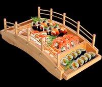 أدوات المطبخ مطبخ، شريط الطعام حديقة المنزل اليابانية الخشب الخشبي المطبخ جسر القوارب الصنوبر الإبداعية ساشيمي طبق طبق السوشي الجدولوار