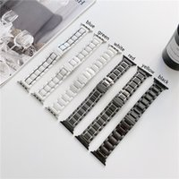 Stainless Strap Replacement for Apple iWatch Series 6 5 4 3 2 Metal Watch Band Waterproof Ceramics Wristband Bracelet 38mm 40mm 42mm 44mm