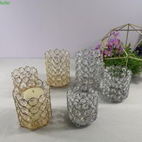 Candle Holders Crystal Holder Silver  Gold Candlestick Lantern Wedding Centerpieces Table Candelabra For Home Party Decoration