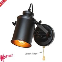 Industrial Wall Lamp Vintage Lights With Pull Chain Switch Handy Retro Sconce Loft American Country Led Light Fixture Lamps