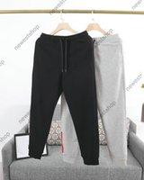 2021 İlkbahar Yaz Tasarımcısı Sweatpants Erkek Kırmızı Çizgili Baskı Pantolon Ünlü Mektup Baskı Rahat Ayakkabı Pamuk Joggers Pantolon