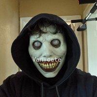 Máscara de horror de Halloween de cara blanca y blanco Eyed Weaveusome Diablo Máscaras Latex 2 Color Jester Mask Party Supplies T2I52456