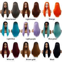 Vendita da donna Parrucche Cosplay Split Animation Capelli lunghi Colore del parrucca di colore sfumato