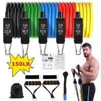 Resistance Bands Set Exercise With Door Anchor Legs Ankle Straps For Training Physical Therapy Home Workouts