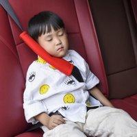 안전 벨트 액세서리 2PCS 자동차 안전 셀트 벨트 어깨 패드 코튼 보호 커버 베개 어린이 자동차 스타일링 인테리어 데칼 장식